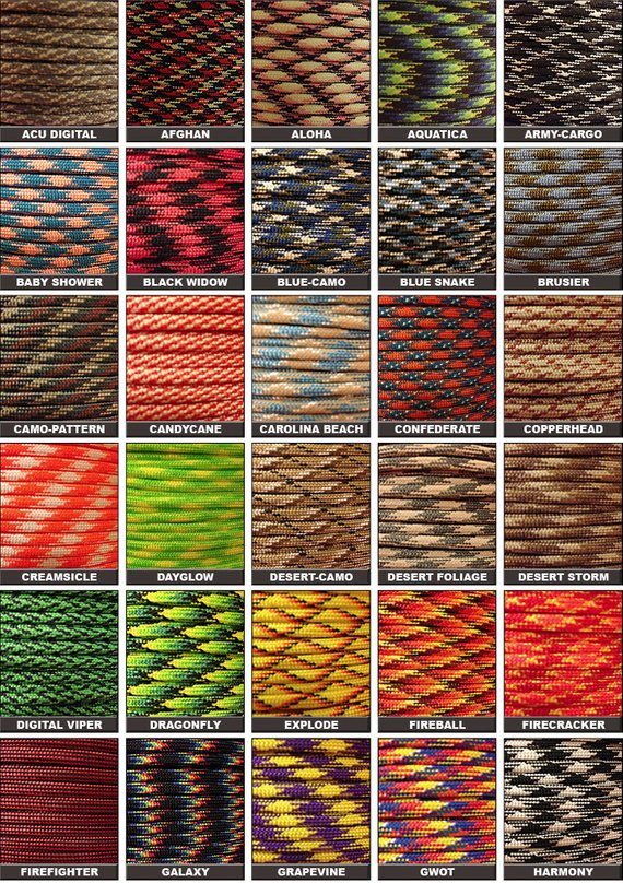 100ft Of 550 Paracord Mil Spec Type Iii 7 Strand Parachute Cord