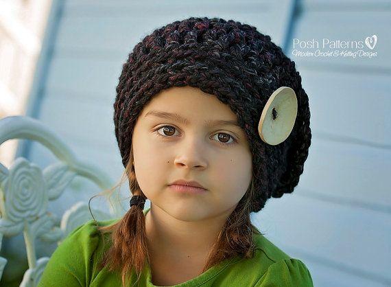 PATRÓN de ganchillo ganchillo a sombrero patrón por PoshPatterns ...