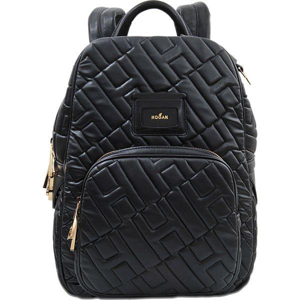 Hogan Capsule Hogan quilted backpack (6469360 PYG) ❤ liked on ... : black quilted rucksack - Adamdwight.com