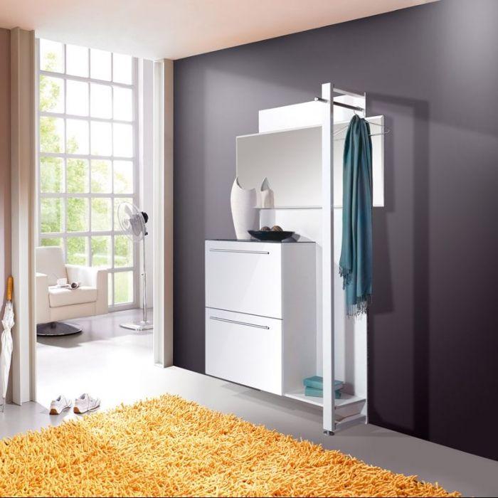 Jerome Design Garderobenset Weiss Hochglanz Flur Diele Garderobenset Weiss Garderoben Set Garderobenset