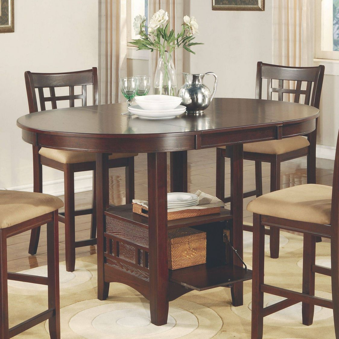 Explore Kitchen Table Chairs Kitchen Seating and more! Tall Dining Room Table Sets ... & Tall Dining Room Table Sets - Best Color Furniture for You Check ...