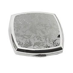 Stratton Heritage Collection Lorelei Silver Colour Dual Compact Mirror