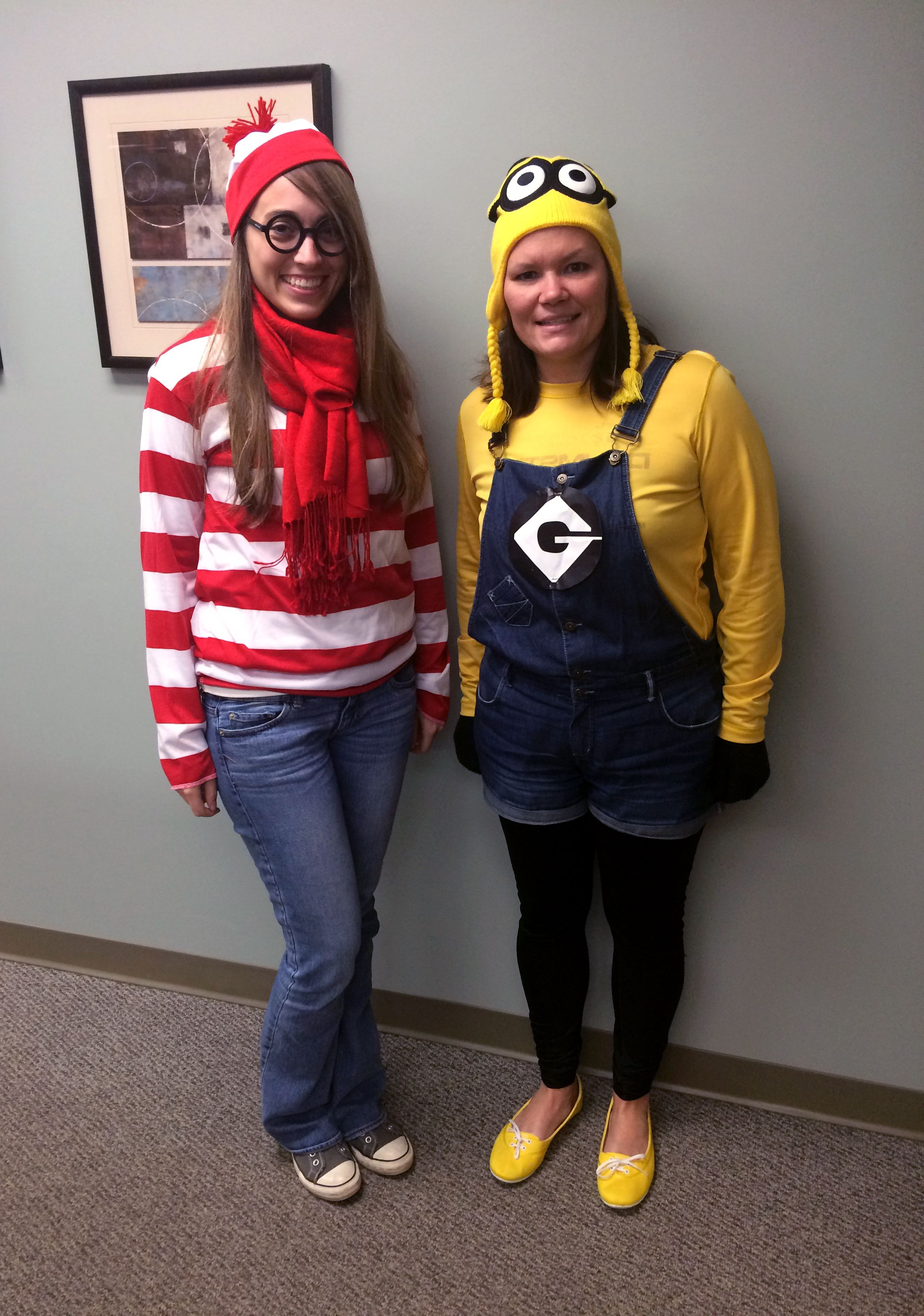 creative halloween costume for the office | where's waldo and minion