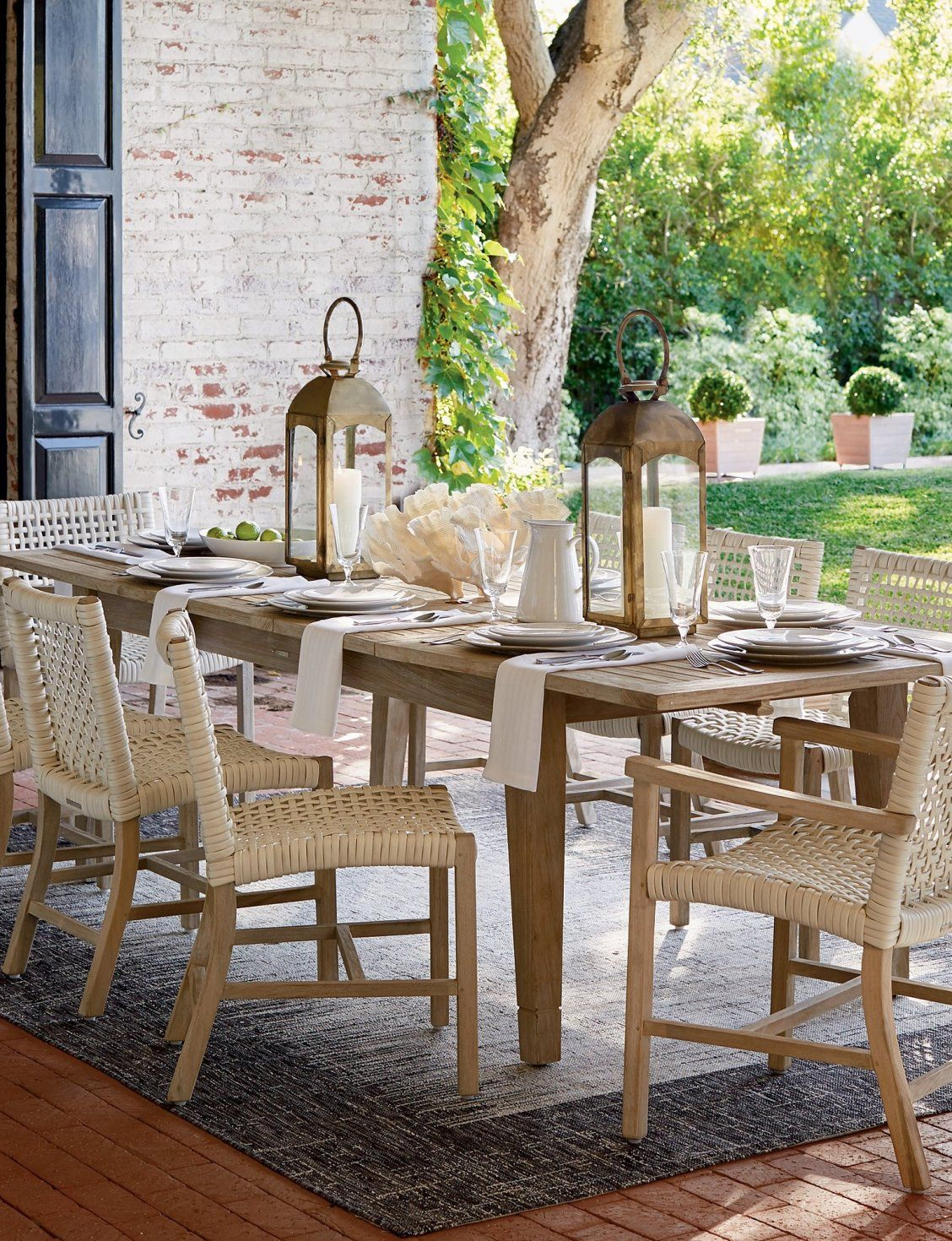 Isola Dining In Weathered Finish Frontgate Rectangular Dining Set Used Outdoor Furniture Diy Outdoor Furniture