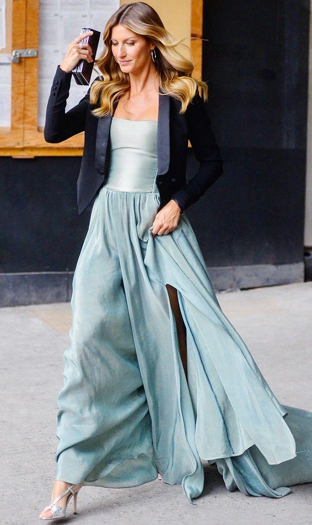8 Celebrity-Inspired Ways To Wear A Tuxedo Jacket | Gisele ...