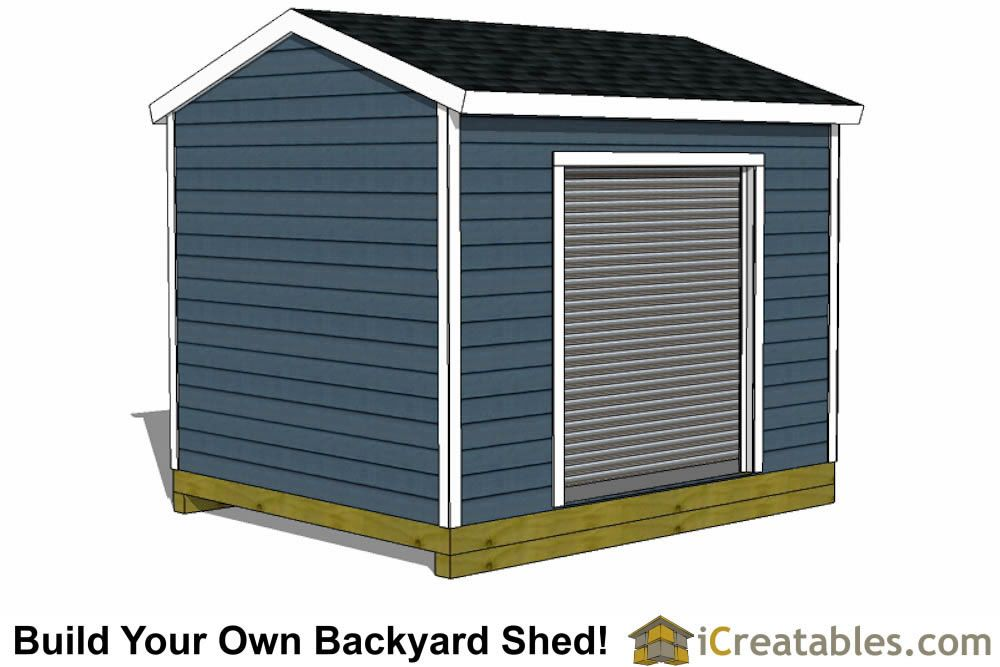 10x12 Shed Plans With Garage Door Icreatables 10x12 Shed Plans Shed Plans Shed Design