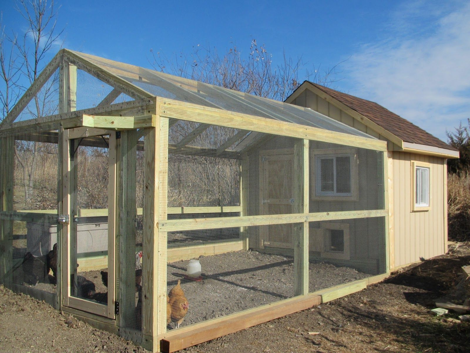 Big chicken coop and run with easy access farm for Large chicken house