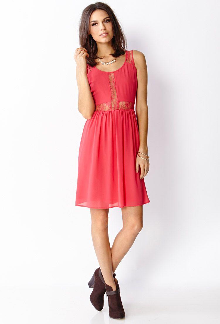 Chiffon Lace Dress | FOREVER21 - 2000087958