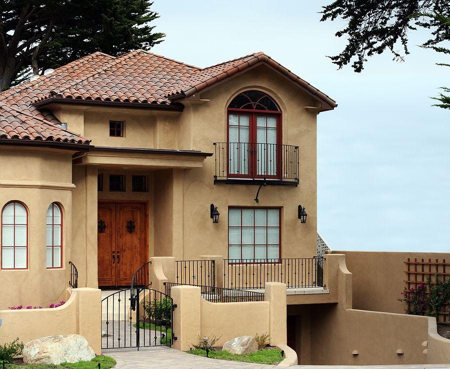 fachadas de casas bonitas de un piso | inspiración de diseño de ...