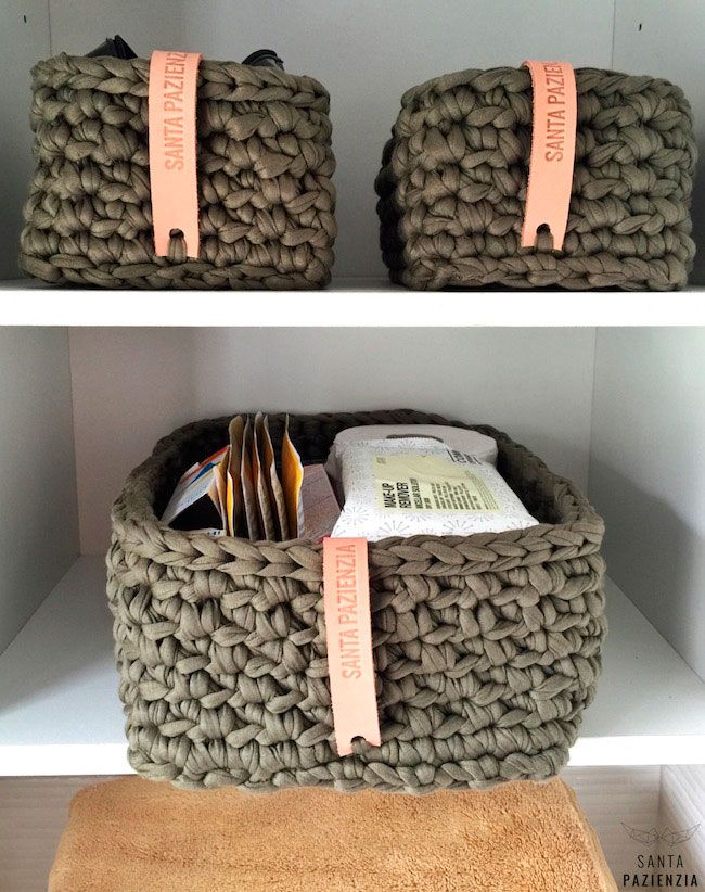Estas cestas rectangulares ten a muchas ganas de hacerlas - Cesto para mantas ...