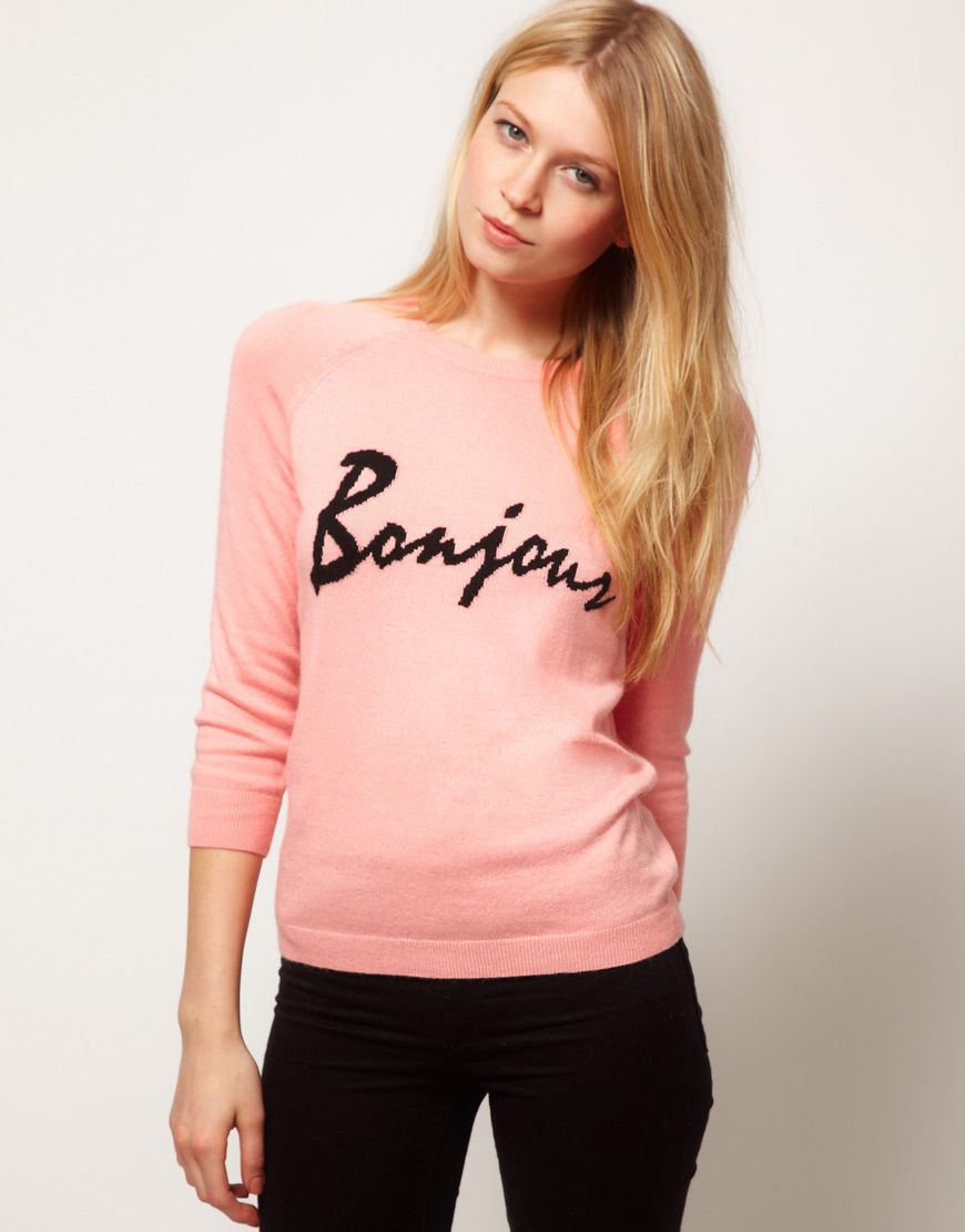 bonjour sweater | Want: Stylish and Fun | Pinterest | Ropa