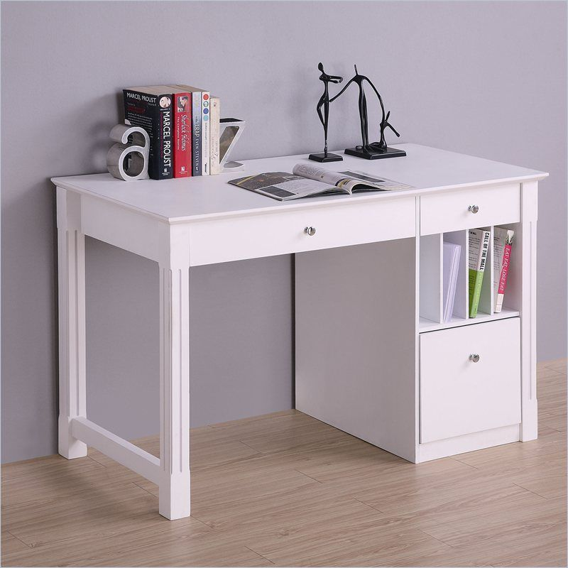 White Gray Solid Wood Office To Walker Edison Deluxe Solid Wood Desk In White Wood Desks