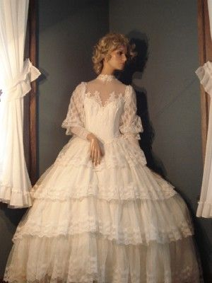 19th Century Wedding Dresses Bridal Exhibit Showcased From The Late