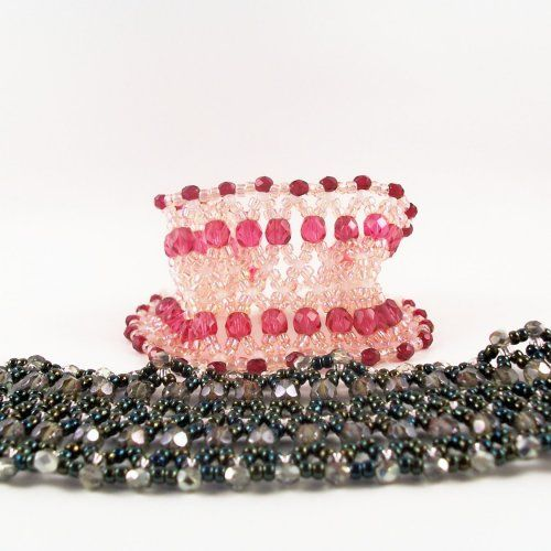 Beaded Cuff Bracelet Pattern, Beading Tutorial in PDF | ZaneyMay - Patterns on ArtFire