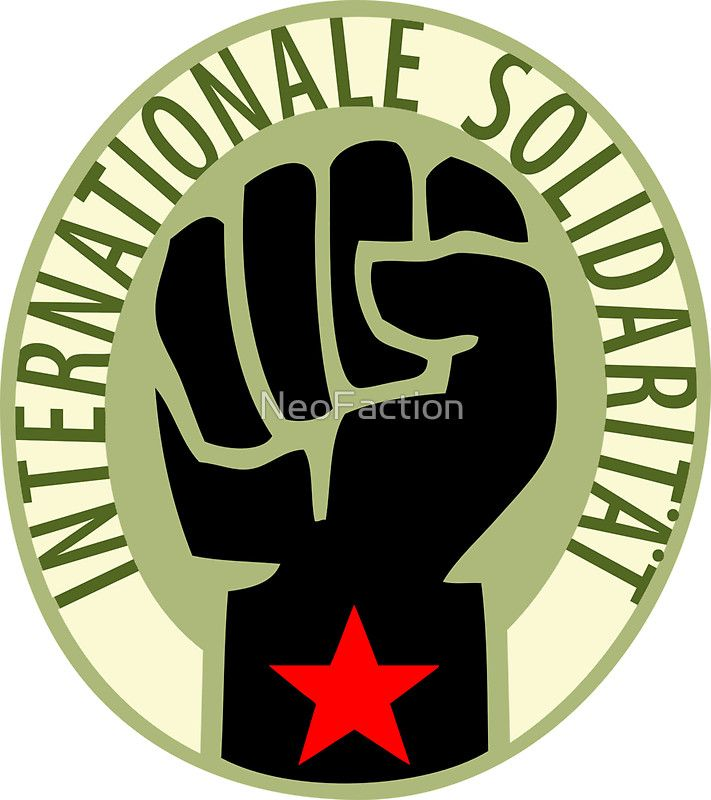 Socialist Solidarity The Revolutionary Clenched Fist Within A Black