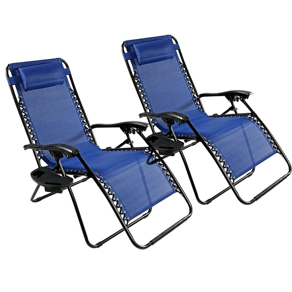 pack adjustable folding zero gravity recliner chairs lounge deck