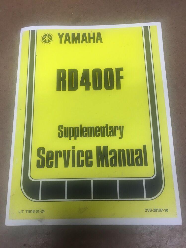 Advertisement eBay) Yamaha Supplementary Service Manual 1979