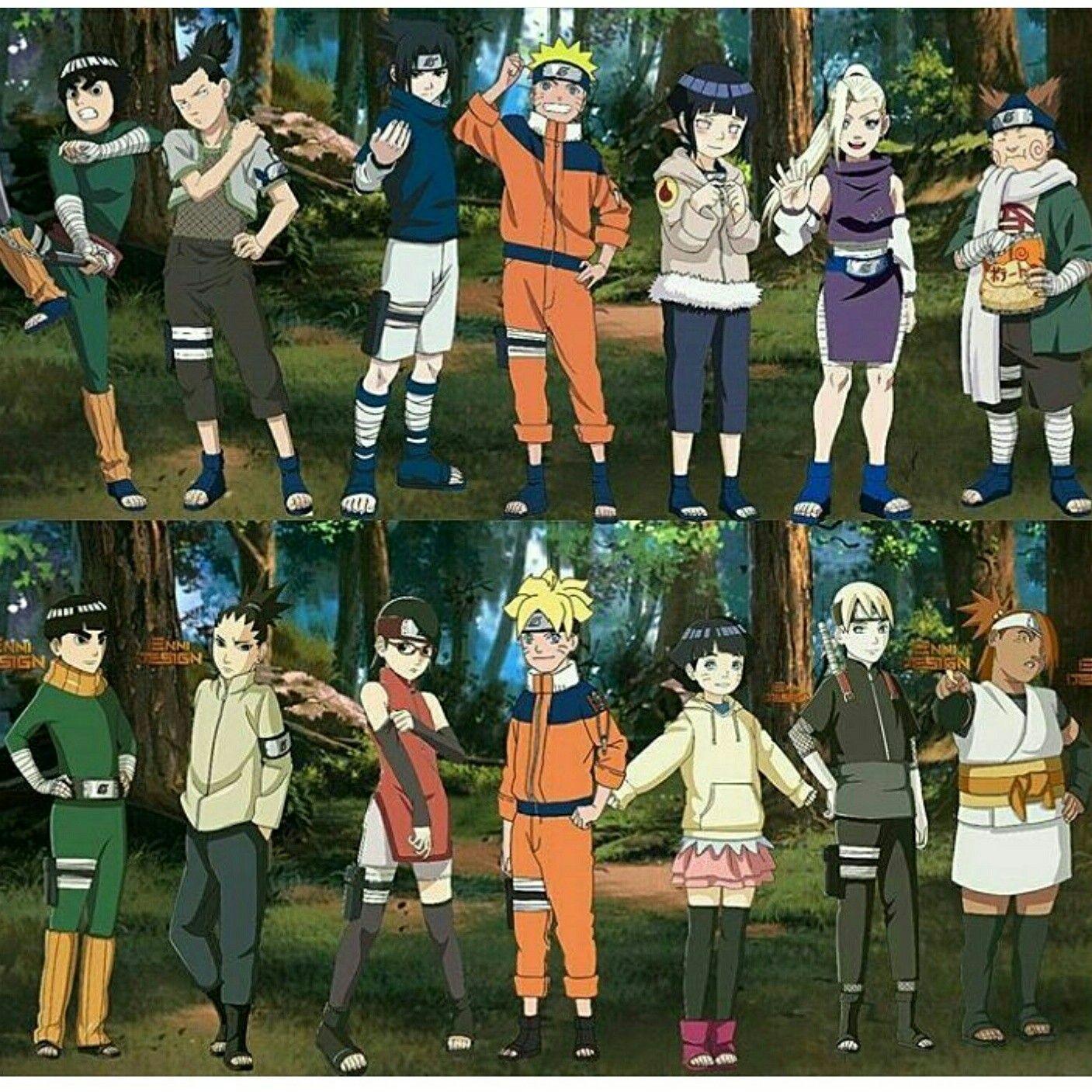 боруто все персонажи с фото и именами данном разделе