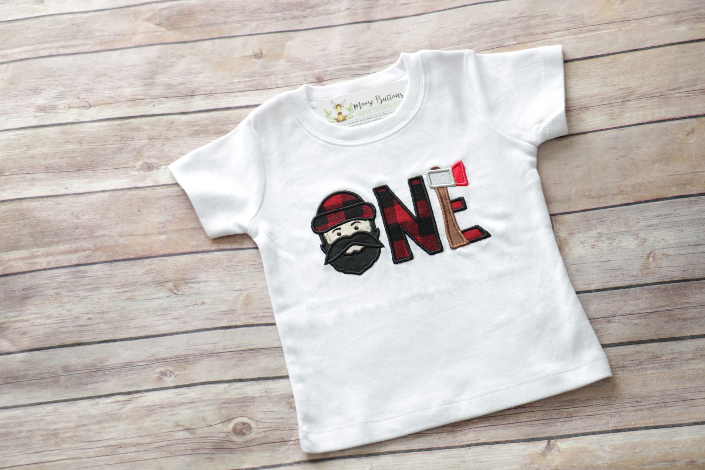 First Birthday Shirt Lumberjack 1st Buffalo Plaid Party One