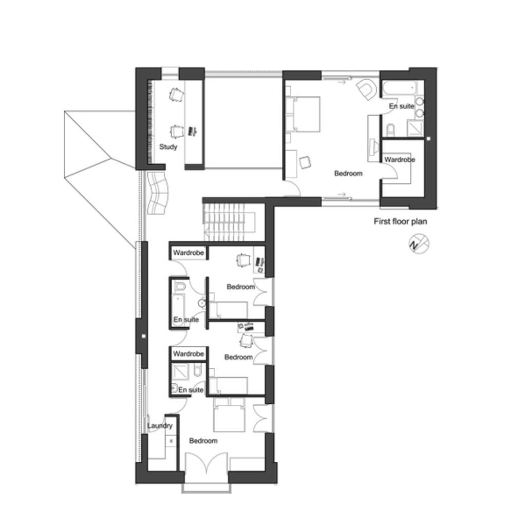 European Style House Plan 4 Beds 3 Baths 3338 Sq Ft Plan 520 8 L Shaped House Plans Home Design Floor Plans Guest House Plans