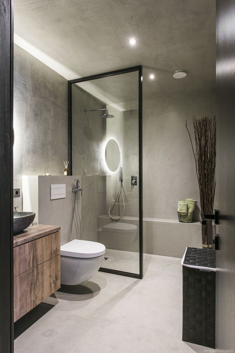 Small Modern Industrial Apartment Decoration Ideas 15 Modern Bathroom Design Modern Bathroom Industrial Modern Bathroom