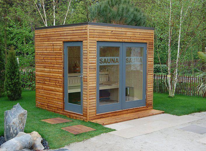 Gartensauna Modern saunahaus square box ihre moderne gartensauna