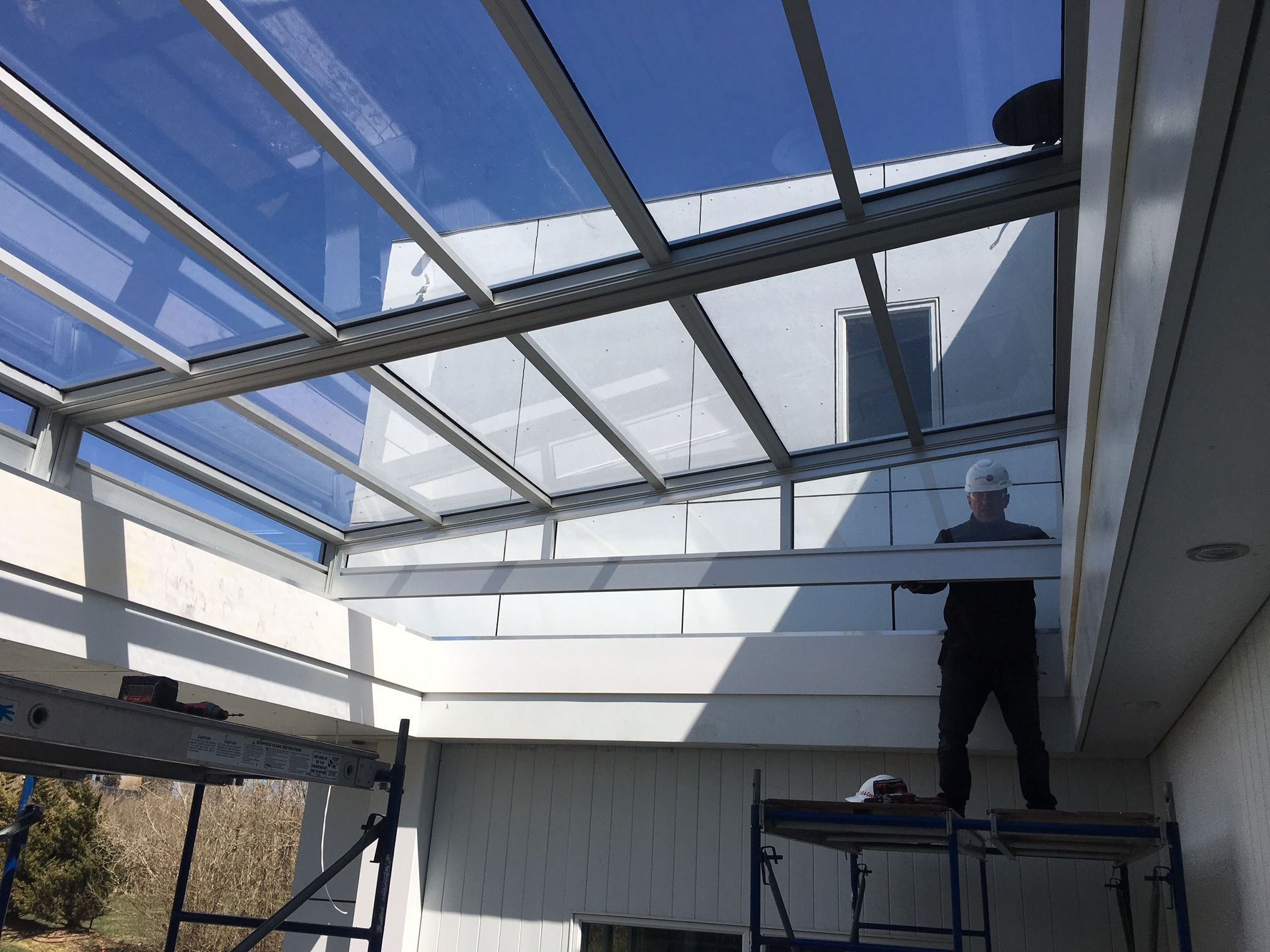Residential Retractable Skylight Manufactured By Roll A Cover Residential Skylights Skylight Outdoor Patio Space