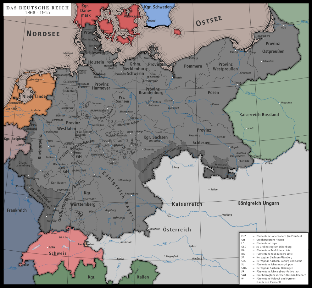 Height Of The German Empire By Nymain D66mrtt Png 992 917 Landkarte Deutschland Geschichte Kartographie
