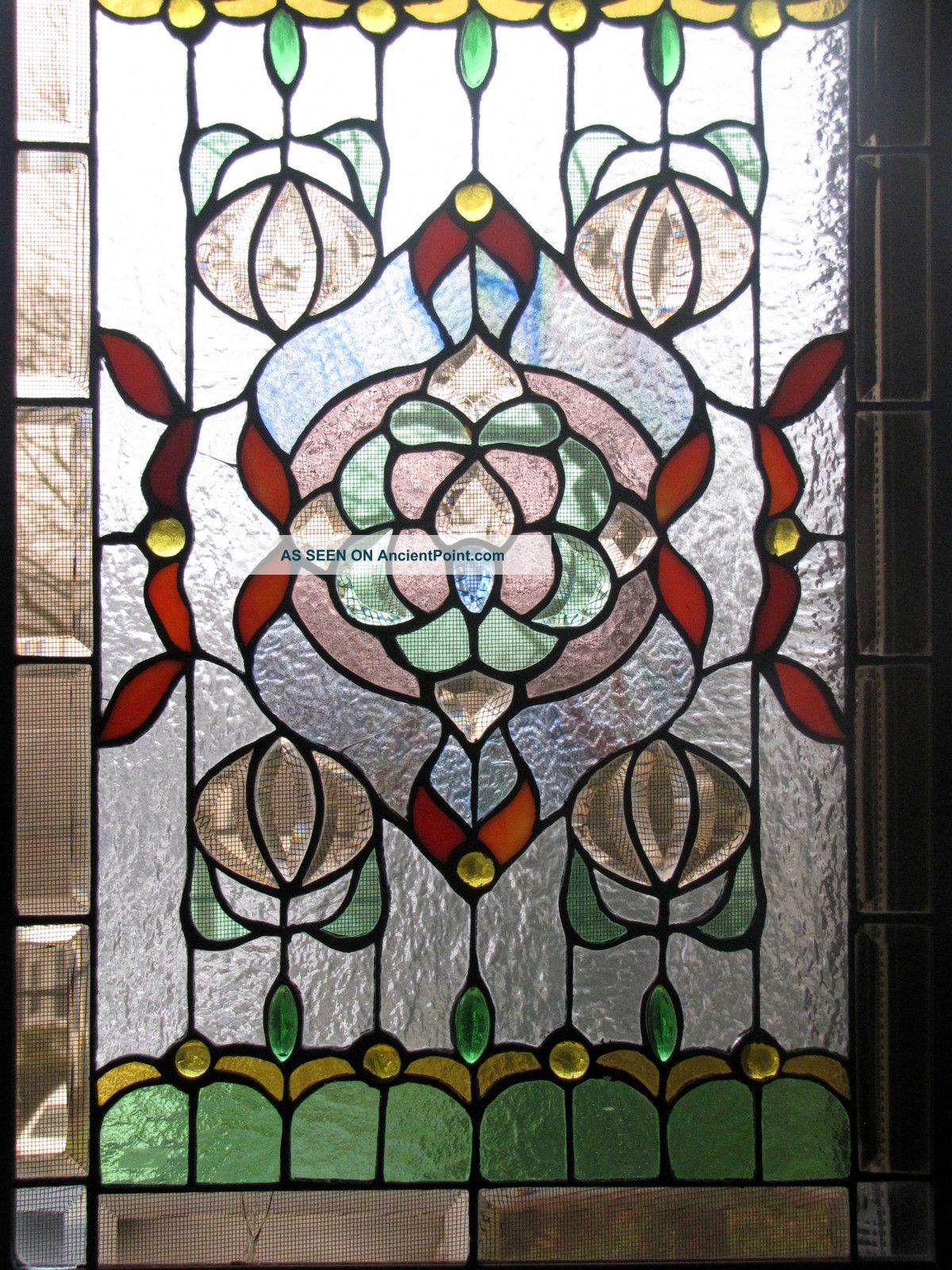 Leaded glass designs for windows - Vintage Leaded Glass Windows Antique American Stained Glass Window Panel 1940 Now Photo