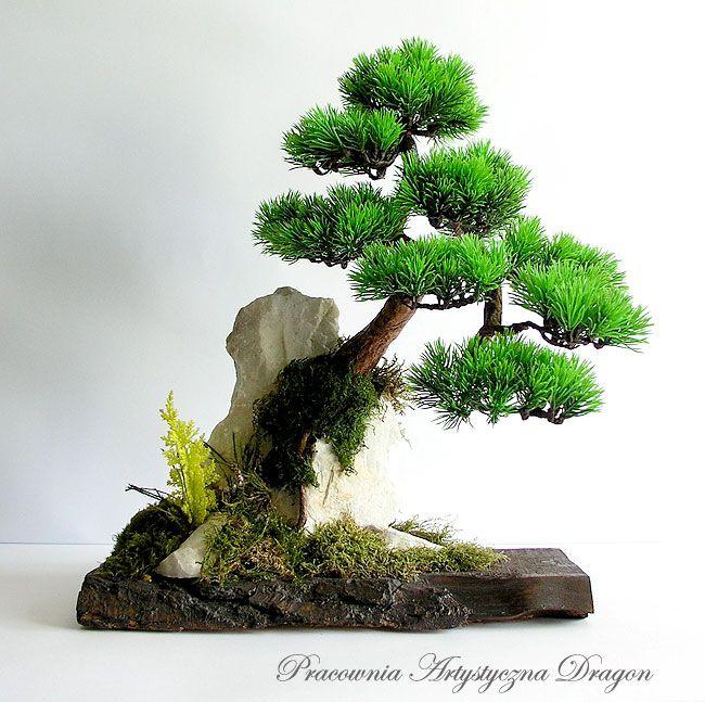 bonsai zokei sekij j sosna sztuczne drzewko bonsai 42 cm. Black Bedroom Furniture Sets. Home Design Ideas