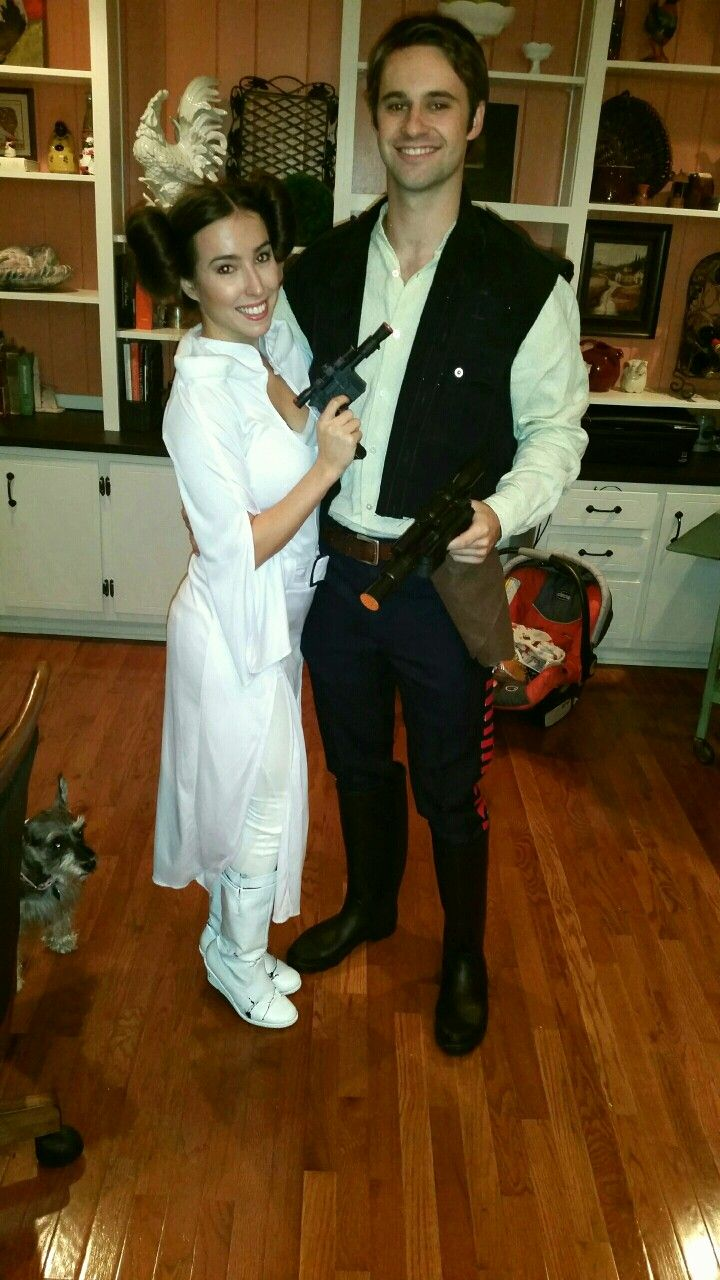 perfect princess leia and han solo halloween costume couples costume star wars inspired cos play - Teen Couples Halloween Costumes