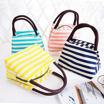 Oxford Lunch Tote Bag Cooler Insulated Handbag Zipper