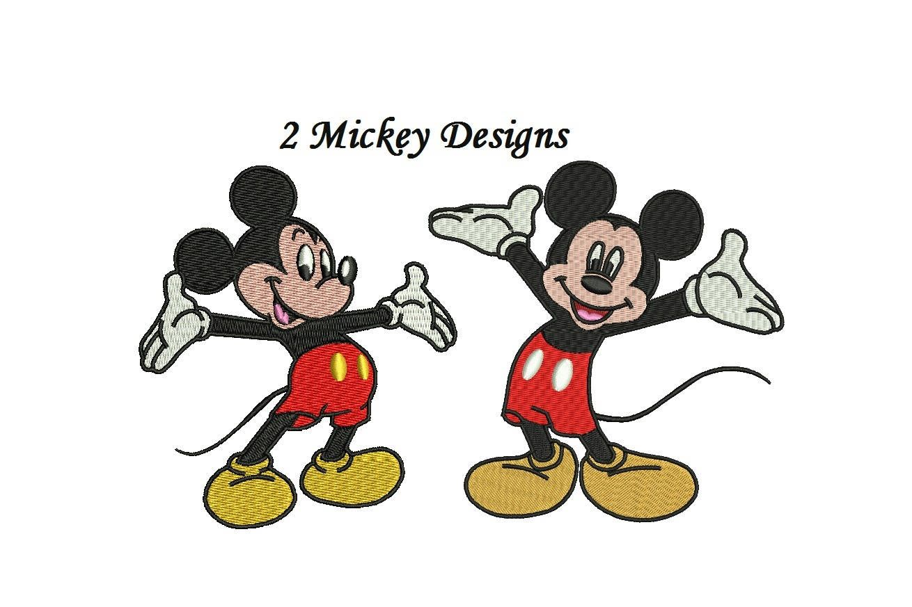 Mickey Mouse Embroidery Design 2 Designs 3456 Inch Each Figure
