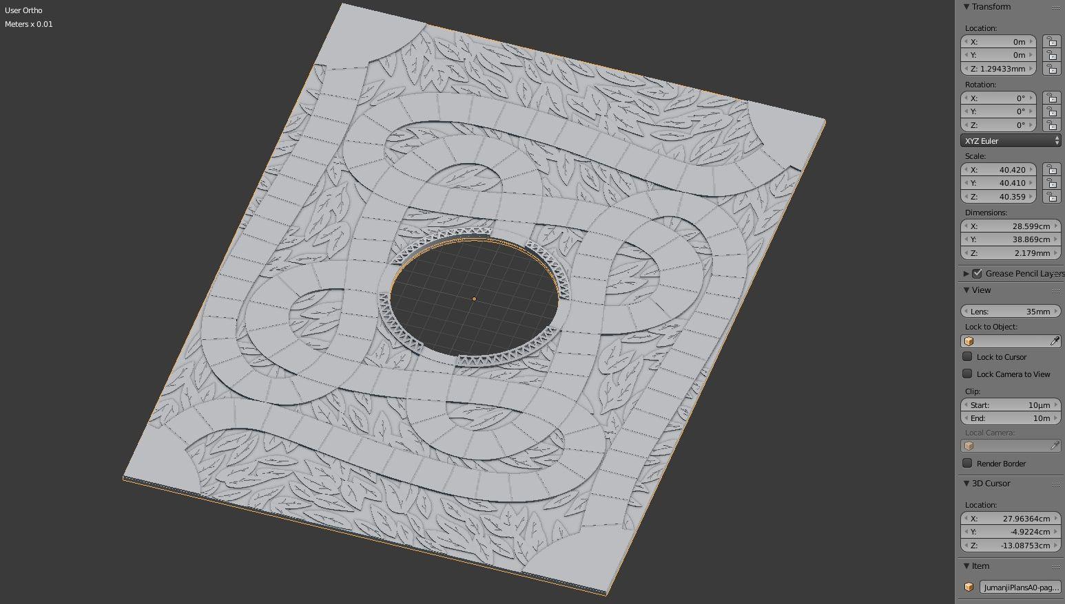 3d jumanji plateau jeu jumanji board game pinterest for Jeu d architecture 3d