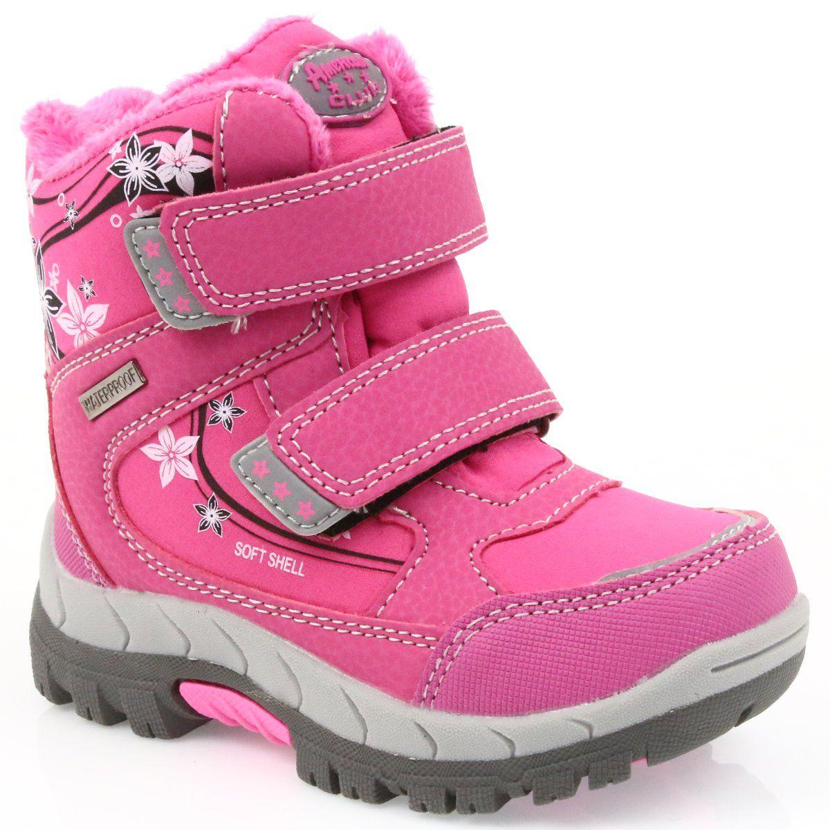 Kozaki Dla Dzieci Americanclub American Club Buty Z Membrana American 3121 Rozowe Wedge Sneaker Shoes Sneakers