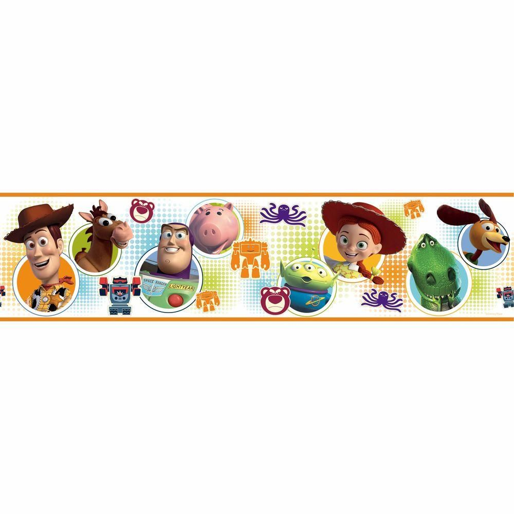 Roommates Toy Story 3 Peel And Stick Wallpaper Border Rmk1429bcs The Home Depot Toy Story Room Toy Story 3 Toy Story