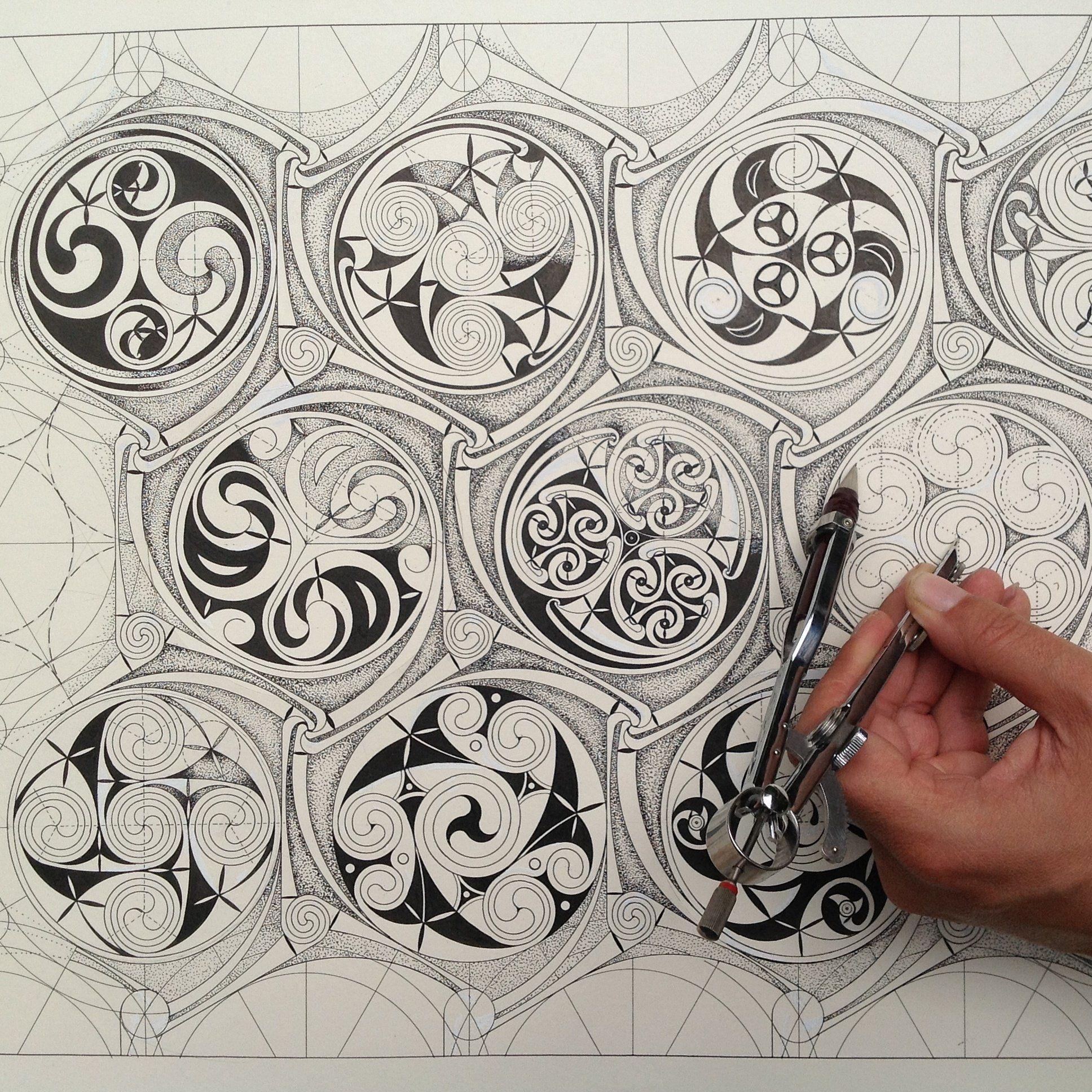 Owl greeting card set welsh artist jen delyth celtic art studio - Celtic Pattern Geometry And Imagination Art Class Given In London By Adam Tetlow