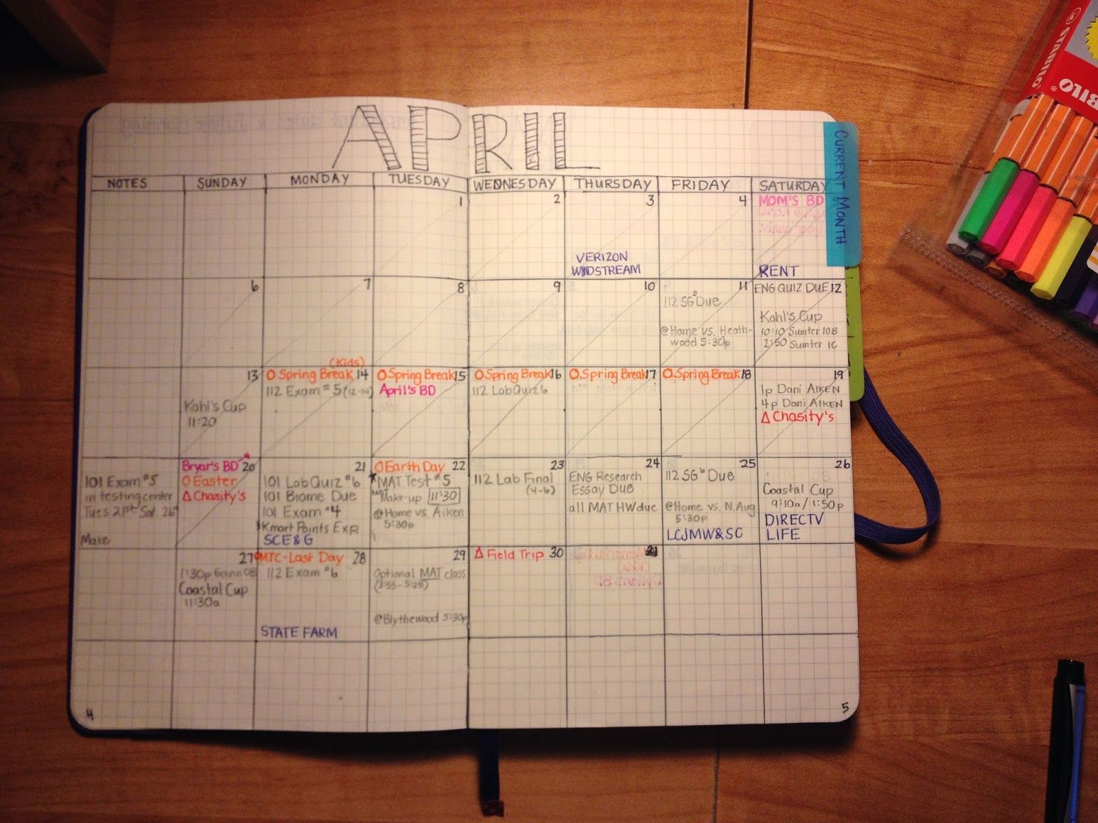 Calendar Planner Diy : Bullet journal monthly calendar future planning solved