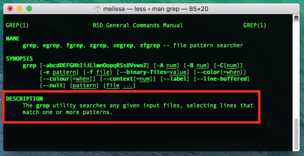 Macos Using Grep To Find Matching Lines Line Labels Find