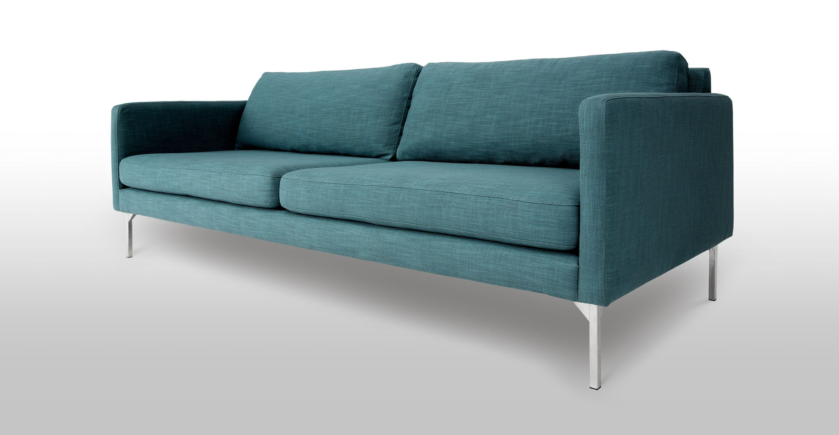 Sofa Article Xv Macy S Clare Blue 3 Seater With Steel Legs Echo