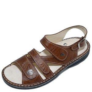Finn Comfort Gomera Cognac Leather Soft Footbed Finn Comfort Leather Comfort