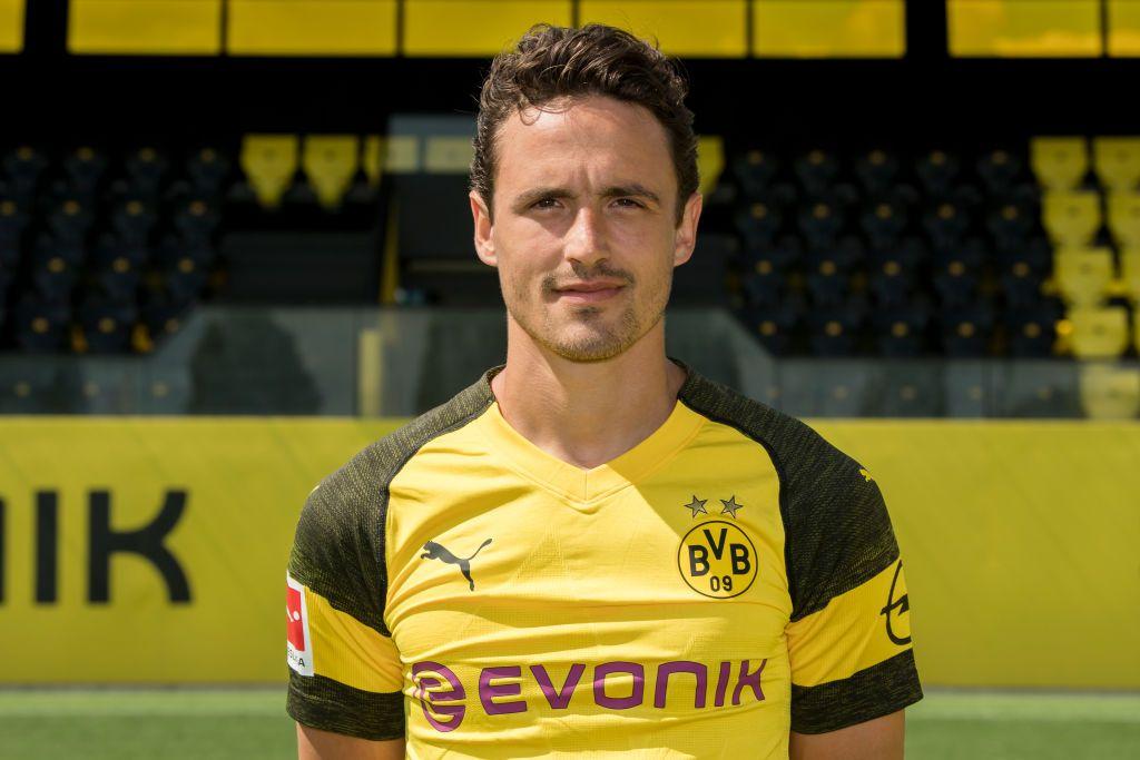 Dortmund Germany August 10 Thomas Delaney Of Borussia Dortmund Poses During The Team Presentation At On August 10 2018 Borussia Dortmund Dortmund Poses