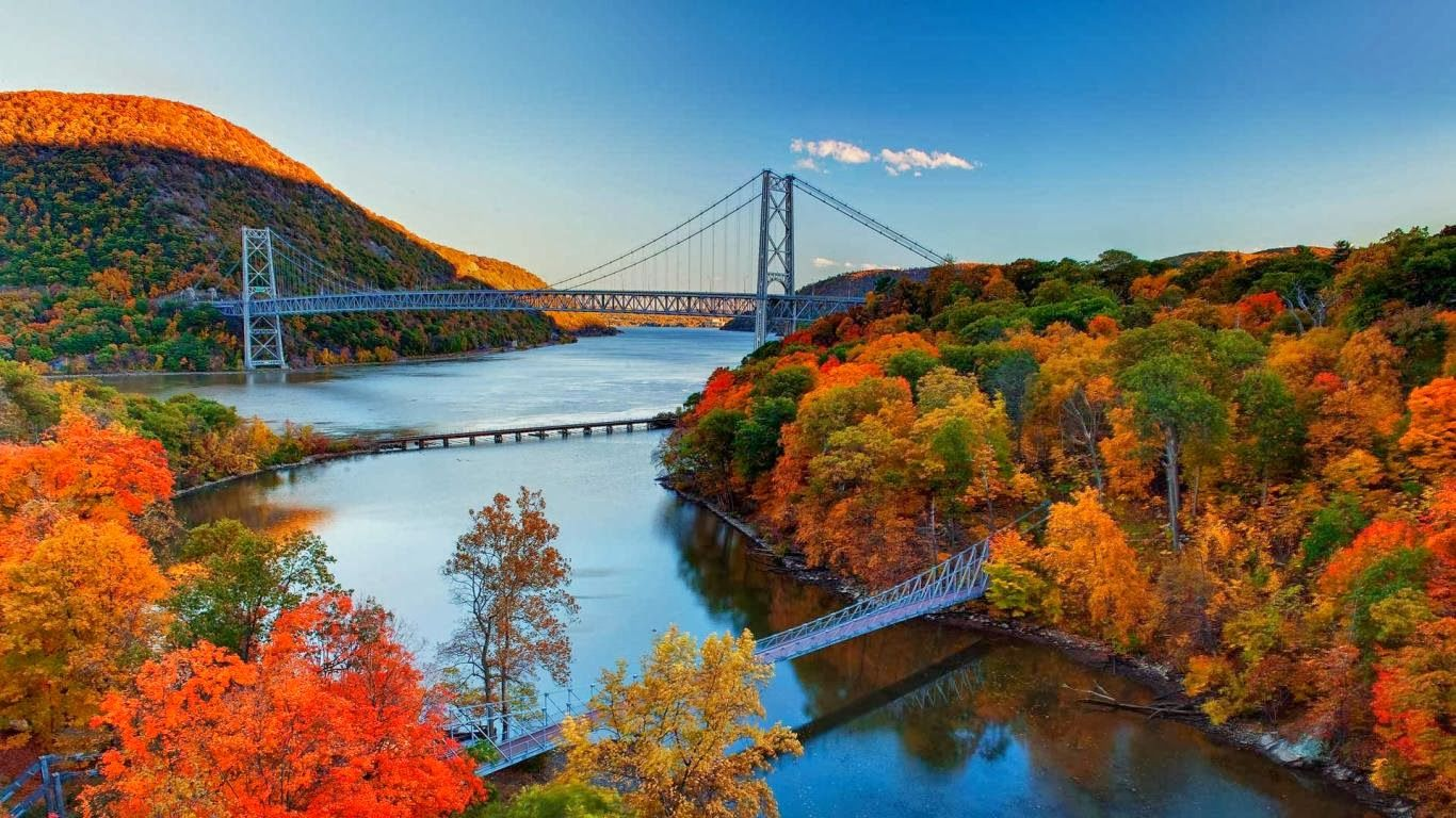 hudson river valley autumn foliage bear mountain bridge hudson valley ny crafts pinterest. Black Bedroom Furniture Sets. Home Design Ideas