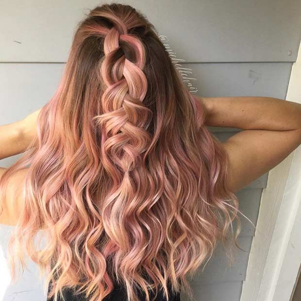 Faded Red To Pink Rose Gold Fancyfollicles