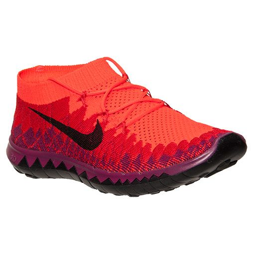best service ac2e2 3df62 Women s Nike Free Flyknit 3.0 Running Shoes   Finish Line   Bright Crimson  Black University Red