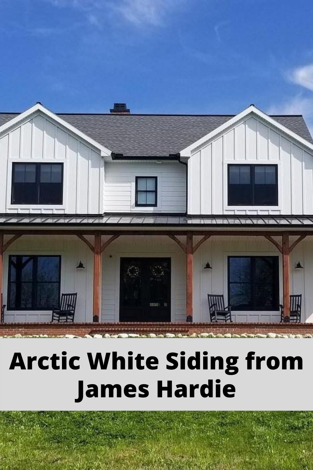 Arctic White Siding By James Hardie In 2020 White Siding Siding Colors For Houses Siding