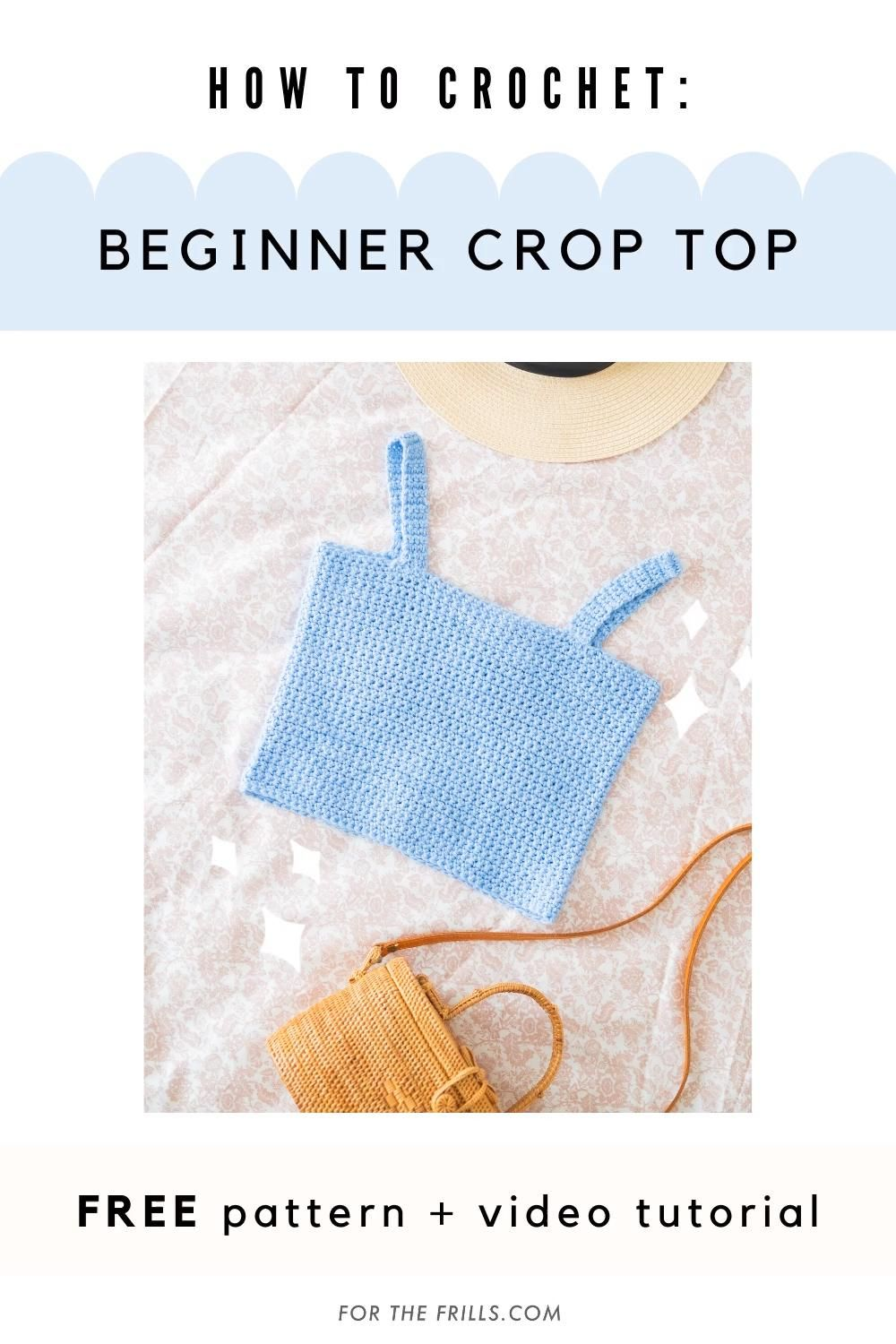 Photo of Easy Crochet Crop Top for beginners – free pattern & video tutorial