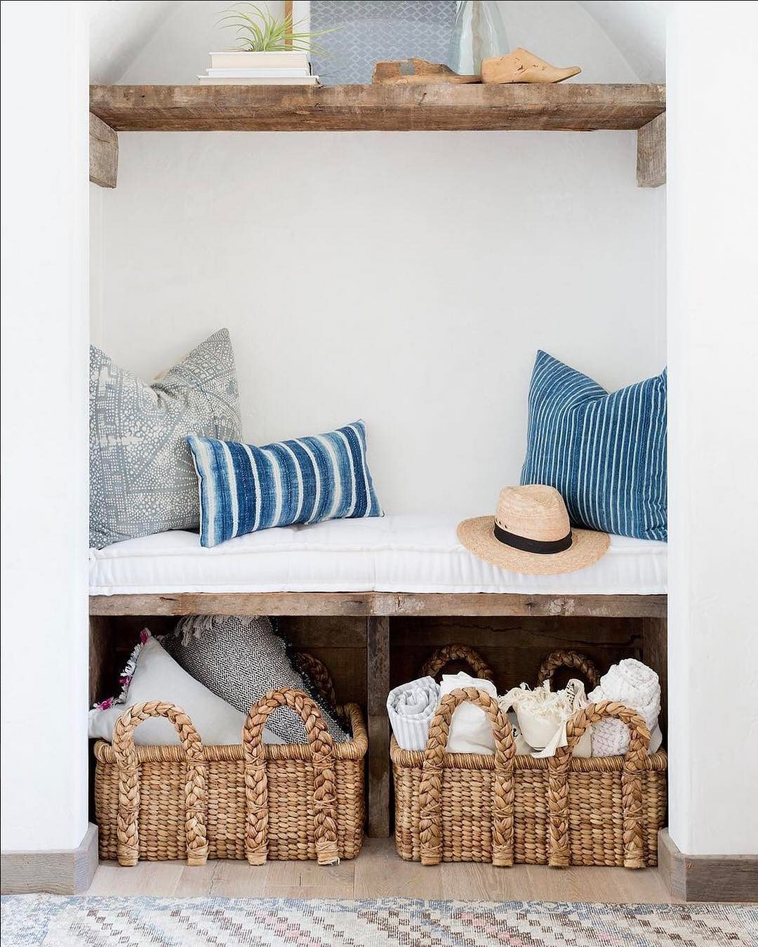 Our Low Beachcomber Baskets Are The Perfect Storage Solution To Manage The  Pillows And Blankets In
