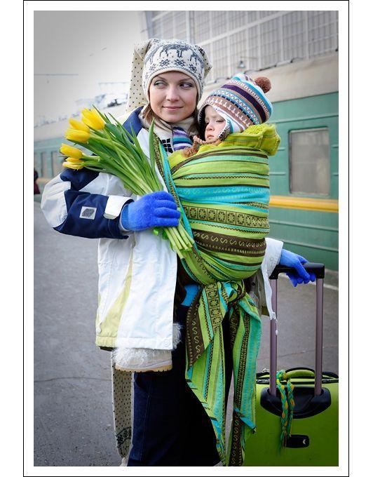 15ec95fb56a Слинг-шарф Ellevill Zara Tricolor Green