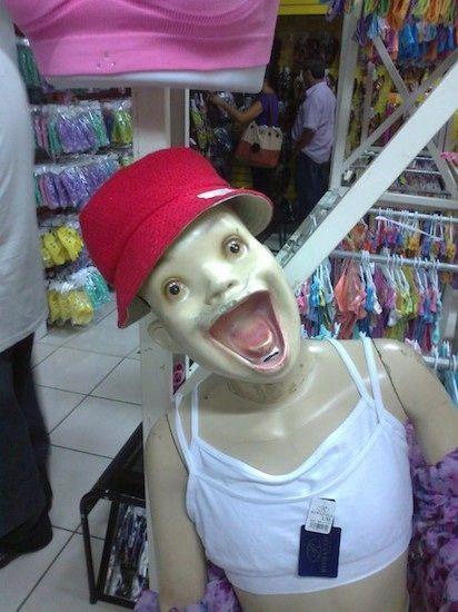 STRANGE ODD SPOOKY FREAKY CREEPY WEIRD Doll Mannequin Dead VINTAGE PHOTO